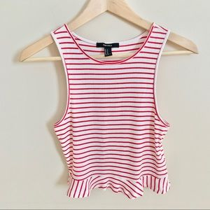 2/$20 Forever 21 Red & White Striped Tank Top